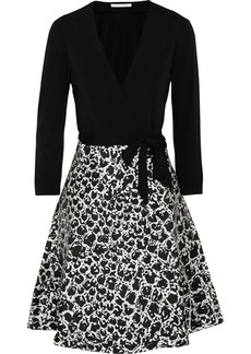 Diane von Furstenberg Amelia crepe and sateen-twill wrap dress