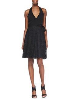Diane von Furstenberg Amelia Lace-Skirt Halter Dress