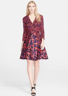 Diane von Furstenberg 'Amelia' Print Cotton & Silk Wrap Dress