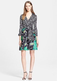 Diane von Furstenberg 'Amelianna' Cotton & Silk Wrap Dress
