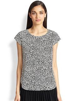Diane von Furstenberg America Too Printed Silk Top