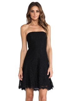 Diane von Furstenberg Amira Lace Dress in Black