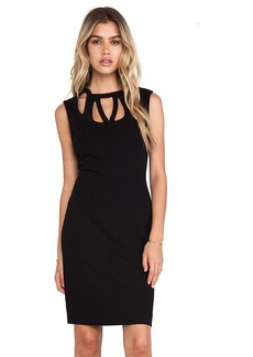Diane von Furstenberg Amy Cut Out Shift Dress in Black