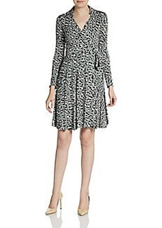 Diane von Furstenberg Animal Print Jersey Wrap Dress