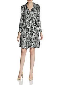 Diane von Furstenberg Animal Print Jersey Wrap Dress