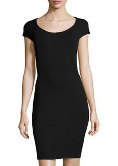 Diane von Furstenberg April Short-Sleeve Jersey Dress, Black
