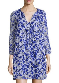 Diane von Furstenberg Aria Floral Silk Shift Dress