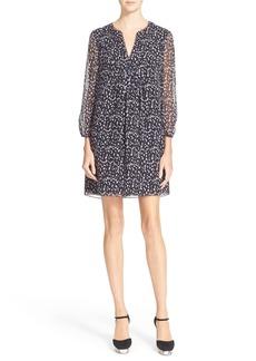 Diane von Furstenberg 'Aria' Silk Static Print Babydoll Dress