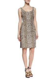 Diane von Furstenberg Arianna Cheetah Print Front Dress, Carmel/Pearl/Black