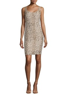 Diane von Furstenberg Ariana Sleeveless Printed Jacquard Dress, Leopard