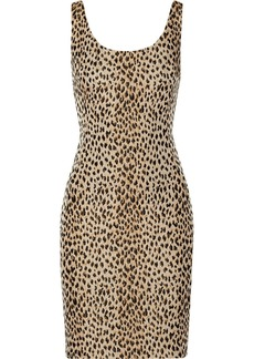 Diane von Furstenberg Arianna leopard-jacquard and jersey dress