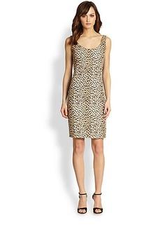 Diane von Furstenberg Arianna Leopard Jacquard Dress