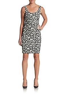Diane von Furstenberg Arianna Leopard-Print Front Dress