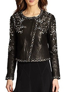 Diane von Furstenberg Arizone Studded Leather Jacket