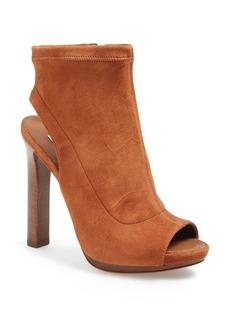 Diane von Furstenberg 'Armara' Peep Toe Stretch Leather Bootie (Women)