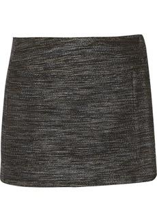 Diane von Furstenberg Ashlee wrap-effect bouclé mini skirt
