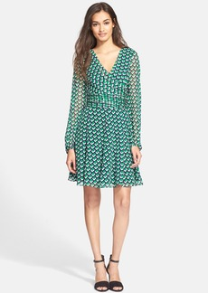 Diane von Furstenberg 'Ashlynn' Cube Print Silk Dress