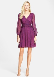 Diane von Furstenberg 'Ashlynn' Surplice Silk Dress
