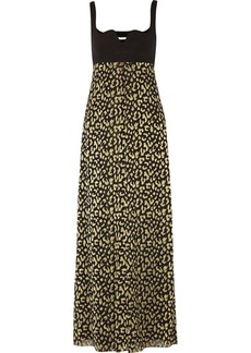 Diane von Furstenberg Asti jersey and metallic-jacquard maxi dress