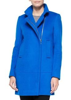 Diane von Furstenberg Asymmetric Zip-Front Walker Coat