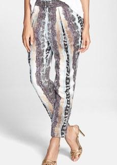 Diane von Furstenberg 'Atlas' Print Linen & Silk Pants