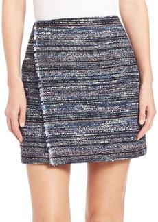 Diane von Furstenberg Austyn Textured Wrap Mini Skirt