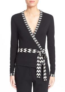 Diane von Furstenberg 'Ballerina' Embellished Wrap Sweater