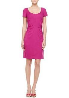 Diane von Furstenberg Bally Short Sleeve Ruched Dress