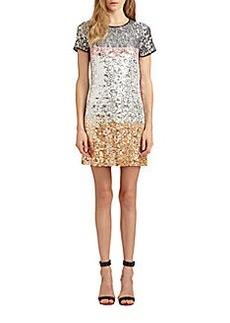 Diane von Furstenberg Barbie Embellished Silk Dress