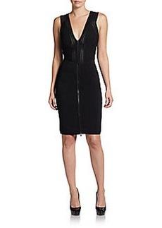 Diane von Furstenberg Barcelona Two-Way Zip Body-Con Dress