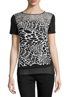 Diane von Furstenberg Becky Animal-Print Silk Top