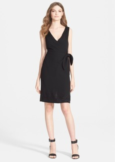 Diane von Furstenberg 'Bella' Beaded Silk Blend Wrap Dress