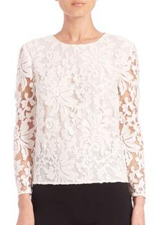 Diane von Furstenberg Belle Embellished Lace Top