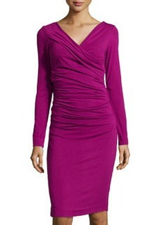 Diane von Furstenberg Bentley Ruched Wrap-Style Dress, Lotus Berry