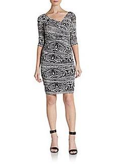 Diane von Furstenberg Bentley Silk Ruched Dress