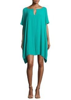 Diane von Furstenberg Beonica Oversized Keyhole Dress, Parakeet