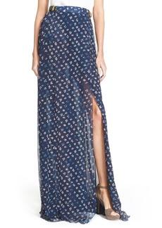 Diane von Furstenberg 'Bethune' Floral Print Silk Maxi Skirt