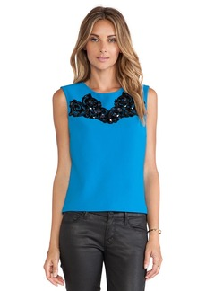 Diane von Furstenberg Betty Tank in Blue