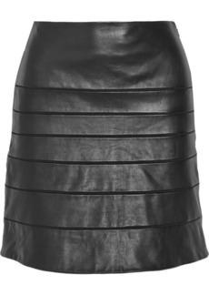Diane von Furstenberg Beverly paneled leather skirt