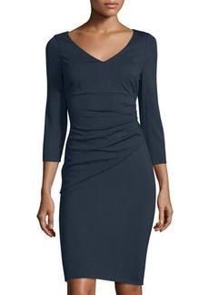 Diane von Furstenberg Bevin 3/4-Sleeve Ruched Dress