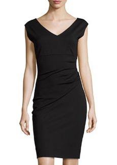 Diane von Furstenberg Bevin Ponte Sheath Dress, Black