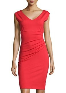 Diane von Furstenberg Bevin Ponte Sheath Dress, Poppy