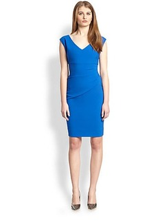 Diane von Furstenberg Bevin Ruched Knit Dress