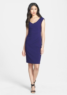 Diane von Furstenberg 'Bevin' Ruched Knit Sheath Dress
