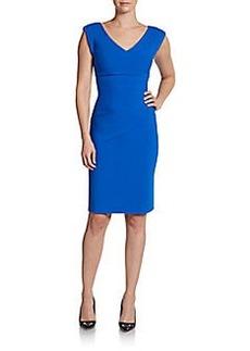 Diane von Furstenberg Bevin Ruched Sheath Dress
