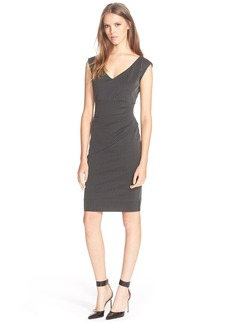 Diane von Furstenberg 'Bevin' Stripe Ruched Knit Sheath Dress