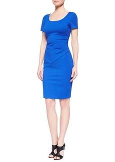 Diane von Furstenberg Bevina Short-Sleeve Fitted Dress