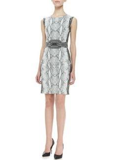 Diane von Furstenberg Bey Python-Print Dress
