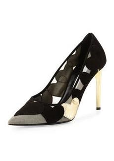 Diane von Furstenberg Bis Point-Toe Heart Pump, Black