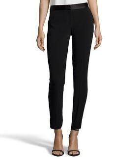 Diane Von Furstenberg black stretch crepe 'Cady' flat front cropped pants